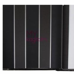 BB Ainos 16m2 - Çizgili Siyah Füme Vinil Duvar Kağıdı Ainos 6553-3
