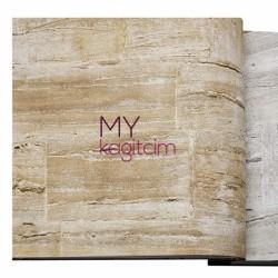 Adawall Anka 16,50 m2 - Tas Desen Yerli Duvar Kağıdı Eskitme Sıva Bej Anka 1605-2