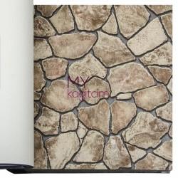 Duka İnception 16m2 - 3d Taş Desen Kahve Duvar Kağıdı İnception Age 71143-2