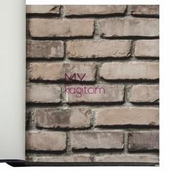 Duka İnception 16m2 - 3d Taş Desen Kahve Duvar Kağıdı İnception Brick 71148-6