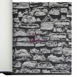 Duka İnception 16,5 m2 - 3d Taş Desen Koyu Gri Duvar Kağıdı İnception Rocky 71136-5
