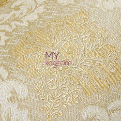 Damask Desen Yerli Duvar Kağıdı Altin Dore Simli Crown 4412-02 - Thumbnail