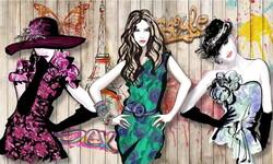 Meslekler - Duvar Posteri 3 kiz