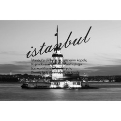 İstanbul - duvar posteri istanbul N136