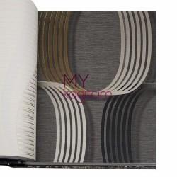 BB Ainos 16,5 m2 - Geometik Kahve Vinil Duvar Kağıdı Ainos 6530-3