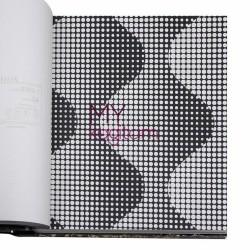 BB Ainos 16,5 m2 - Geometik Siyah Gri Vinil Duvar Kağıdı Ainos 6533-3