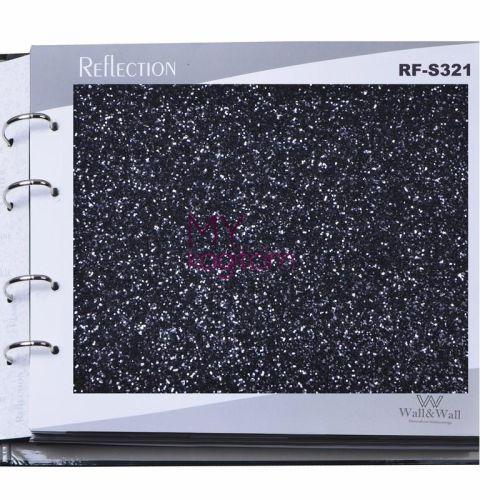Glitter Simli Duvar Kağıdı RF-S321 Siyah