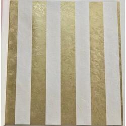4G The Wall - İthal Duvar Kağıdı The Wall 12411 Altın Sarısı ve Beyaz Çizgili