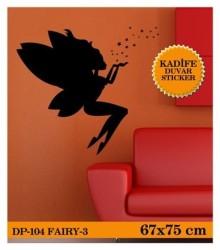 Coart Kadife Çocuk Odası - KADİFE DUVAR STICKER FAİRY-3 67x75 CM