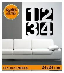 Coart Kadife Pillar - KADİFE DUVAR STICKER NUMBERS 24x24 CM