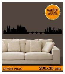 Coart Kadife Cities - KADİFE DUVAR STICKER PRAG 200,9x35,4 CM