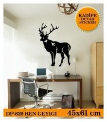 Coart Kadife Ofis - KADİFE DUVAR STICKER REN GEYİĞİ 45,9x61,4 CM