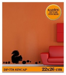 Coart Kadife Large - KADİFE DUVAR STICKER SİNCAP 22X26 CM