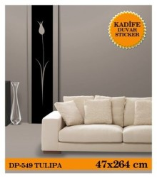 Coart Kadife Large - KADİFE DUVAR STICKER TULIPA 47x264 CM