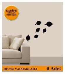 Coart Kadife Large - KADİFE DUVAR STICKER YAPRAK-1 6 ADET