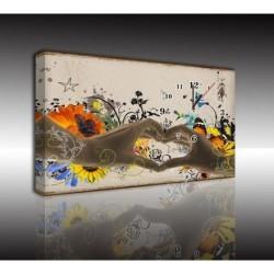 Mykağıtcım Kanvas Saat 30x40 cm - kanvas saat 30-40 (52)