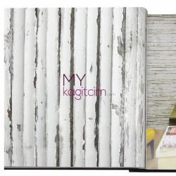 Decowall Bossini 10 m2 - Kırık Beyaz Bambu Vinil Duvar Kağıdı Bossini 2203-02