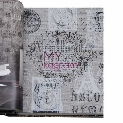 BB Ainos 16,5 m2 - Pop Art Açık Gri Vinil Duvar Kağıdı Ainos 6524-1