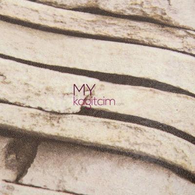 Tas Desen Yerli Duvar Kağıdı Kultur Tasi Kahve 3d Kahve Bej Crown 4410-03