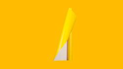 Unifol Plotter Serisi Mat - Unifol Yapışkanlı Folyo Mat 3725 Sarı