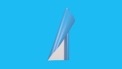 Unifol Plotter Serisi Mat - Unifol Yapışkanlı Folyo Mat 3745 Açık Mavi