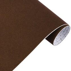 Mykağıtcım Kadife Folyolar - Yapışkanlı Folyo Ucuz Kadife Kahve 45cmx1mt