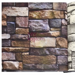 Wall212 3D Single 5 m2 - Yerli Duvar Kağıdı 3D Single 2038